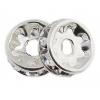 Rhinestone Rondelle (Flat Round) 8mm silver/crystal